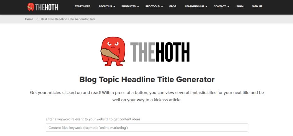 The Hoths Blog Topic Headline Generator tool 1024x476 1