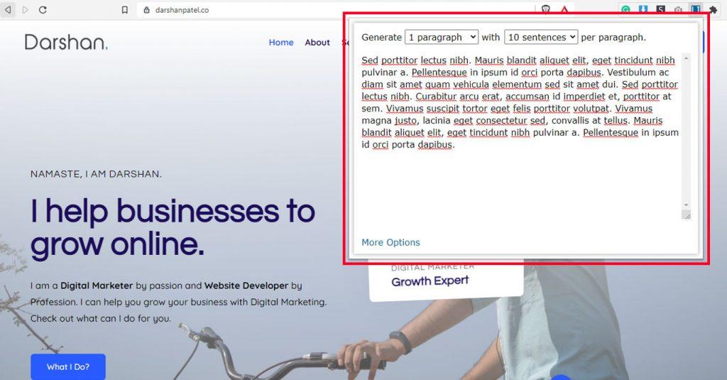 10 FREE Essential Chrome extensions for Web designers Lorem Ipsum Generator